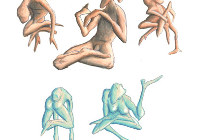 Bodies (colored pencil)